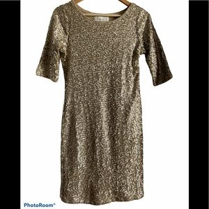 NWT Abercrombie Gold Sequin Bodycon Cocktail Dress